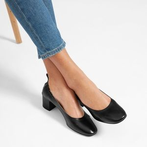 Everlane day heel black leather 7.5